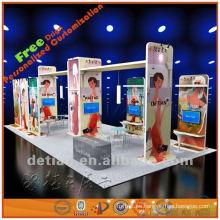 Cabina de exhibición ligera y portátil de exhibición de aluminio y tela personalizada, ayuda a diseñar libremente y exportación al exterior
