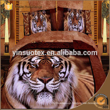 tiger print 3d bed sheets,quilt cove,3d low price bedding sets