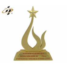 customize metal made funny acrylic design tennis trophy