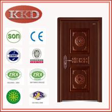 Standard-Größe aus Stahl Sicherheit Tür KKD-504 mit Luxus-Design für Wohnzwecke