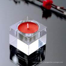 Bougeoir en cristal de sparkle de vente d'usine divers pour la décoration