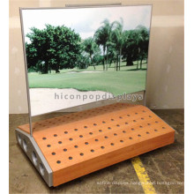 Special Designed Outdoor Sporting Equipment Free Standing Adveritising Metal Wood Golf Club Rack