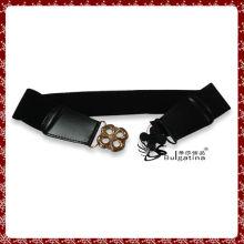 Модный дизайн пояса из черной кожи, пояс из эластичного алмаза