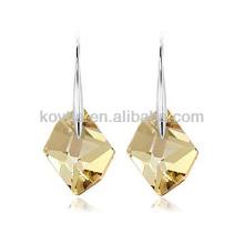 925 Sterling Splitter Haken Ohrringe großen Edelstein Ohrring natürlichen Stein Splitter Schmuck