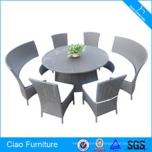 Loisir Lifestyle Rattan ronde table à manger ensemble meubles de jardin