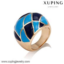 14422 Atacado senhoras delicadas jóias de ouro banhado a liga de cobre escala pintura anel de dedo