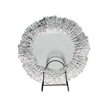 Placa de carga de vidrio con lámina plateada