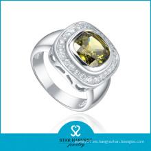 Nuevo anillo de dedo de la plata del diseño al por mayor