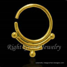 16G Gold Plated Indian Nose Piercing Jewelry