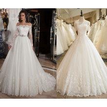с плеча 3/4 рукавом кружева свадебное платье