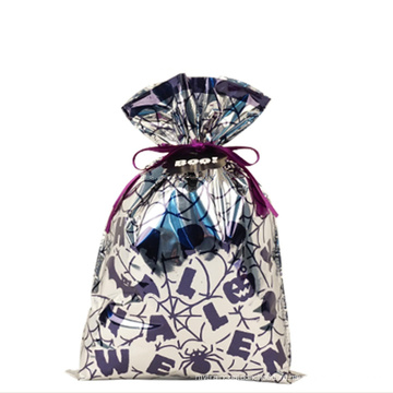 Серебристая сумка на шнуровке Хэллоуин идеи малыша Resuable