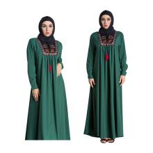 Vêtements islamiques filles arabes Middle modèles premium polyester S-5 XL maxi taille femmes long blouse abaya