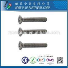 Taiwán de alta calidad M1.0-6.0 DIN964 de acero inoxidable Phillips unidad de cabeza oval máquina de tornillo