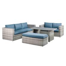 Garden Wicker Lounge Sofa Set Rattan Outdoor Patio Furniture