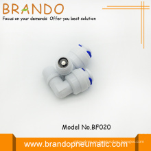 Codo de 90 grados forma Pom Check válvulas adaptador
