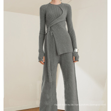 PK18ST093 Tunika Kaschmir Pullover Mode Anzug für Frau