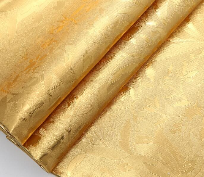Gold PVC decorative leather