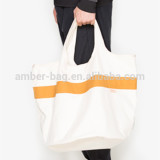 Die-cut handle pure cotton canvas tote bag (JC-1006)