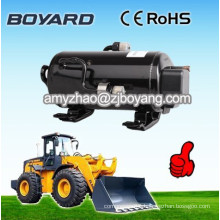 R134a brushless dc 12v refrigeration ac compressor for mobile crane solar powered air conditioner