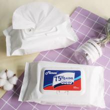 Premium Quality 75% Alcohol Antibacterial Wipes Tissue