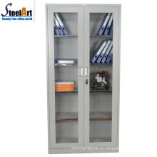 La última oficina de diseño utilizó el gabinete de documentos de acero de la puerta de cristal