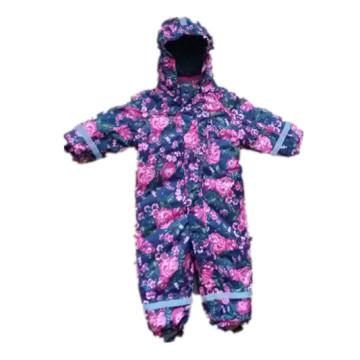 Flower Hooded Reflective Waterproof Jumpsuits
