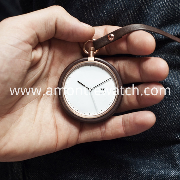 wooden case watch