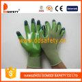 Grünes Nylon mit grünem Nitril-Handschuh-Dnn512