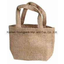 Promotional Small Tote Jute Burlap Bag with Base Gusset