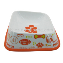 precioso recipiente para mascotas de cerámica con base de silicona