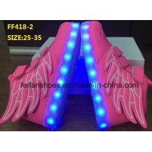 Ailes populaires d'enfants d'enfants LED chaussures de sport de mode chaussures (FF418-2)