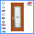 Jhk-G02 Flush Lite Ripple Glass Interior Wood Door