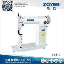 Máquina de coser de oro Zoyer rueda sola aguja cama posterior (ZY810)