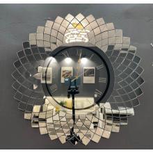 Horloge murale miroir irrégulière pour la décoration de la maison
