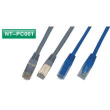 24AWG cobre desprotegido (ou CCA) PTP ftp stp cat5e jumper cord