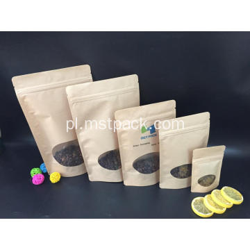 Reclosable Kraft Paper Stand Up Torebka Zipperem