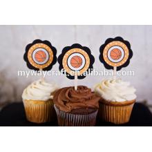 Train CUPCAKE TOPPERS - Aqua Blue & Green Train Cupcake Toppers - Decoração de festa de aniversário ou chuveiro