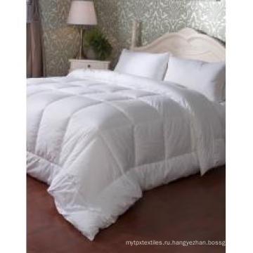 Стеганое стеганое одеяло из микрофибры белого цвета