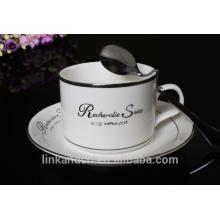 Haonai Высококачественные керамические кофейные наборы, кофейный набор из костяного фарфора