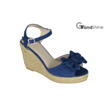 Women′s Espadrille Platform Wedge Sandals with Bow
