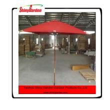 Hohe Qualität 8 Rippen Holzstangen faltbare Garten Sonnenschirm, Holz Umbrella Frames