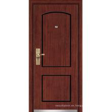Puerta blindada de madera de acero (YF-G9020)
