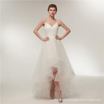 Алибаба V шеи спинки короткий передний долго назад свадебные платья свадебные платья