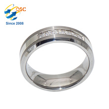 Mode en gros rhodiage placage de nouveaux dessins sur mesure en acier inoxydable anneau O Ring