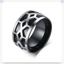 Jóia de aço inoxidável homens moda dedo anelar (SR784)