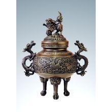 Escultura De Talla Oriental Kylin Censer Escultura De Bronce Tpxl-001