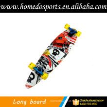 Skate de madeira de maple chinês com rodas de pvc
