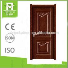 Puerta de madera de melamina interior clásica de estilo abierto de 2018