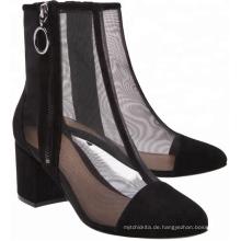 atmungsaktive Schuhe Material mittlere Ferse Stiefeletten Sandalen