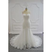Vestidos de casamento de renda 2017 mais recente Sexy sereia vestido de casamento